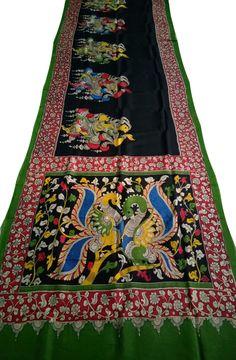 buy Sarees, Buy Latest collection of Saris Online in India Kalamkari Saree, Silk Dupatta, Silk Sarees, Kalamkari Painting, Madhubani Painting, T Shirt Painting, Fabric Painting, Fabric Paint Designs, Embroidery Saree