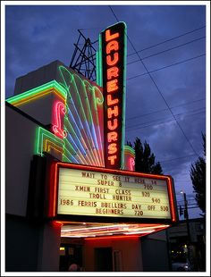 Laurelhurst Theater  Opened in 1923 the Laurelhurst was one of the first art deco theaters in Portland, Oregon.