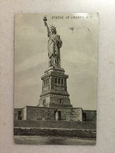 Vintage Statue of Liberty Postcard 1933