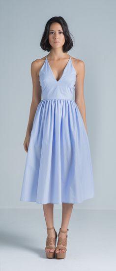 Taylor Cotton Dress (Blue) – SAU