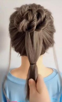 Hairdo For Long Hair, Bun Hairstyles For Long Hair, Pretty Hairstyles, Girl Hairstyles, Braided Hairstyles, Hairband Hairstyle, Hairstyles For Women, Waitress Hairstyles, Hair Do For Medium Hair