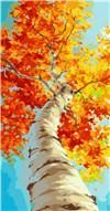 Fall Tree Trunk Large Paint by Number