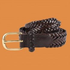 BASSIN AND BROWN BELT COLLECTION - BROWN PLAITED LEATHER BELT http://www.bassinandbrown.com/belts.html