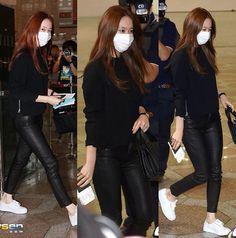 Krystal Jung f(x) airport fashion 2015