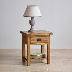 The Original Rustic Solid Oak Bedside Table is a beautifully crafted piece of bedside furniture. Oak Furniture Land, Hallway Furniture, Furniture Covers, Solid Wood Furniture, Table Furniture, Rustic Side Table, Oak Dresser, Floor Decor, Solid Oak