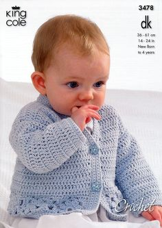 Cardigan, Hooded Gilet, Long and Short Sleeved Sweaters in King Cole DK (3478) | Crochet Patterns | Crochet | Deramores