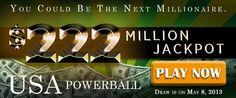 USA Powerball Rollover: US$ 222M Jackpot on May 8
