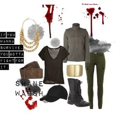 """The Walking Dead Character Sets- Shane Walsh"" by slimchance on Polyvore"