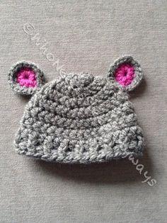 Newborn Toddler Size Crochet Bear Hat by WhoNeedsSleepAnyways