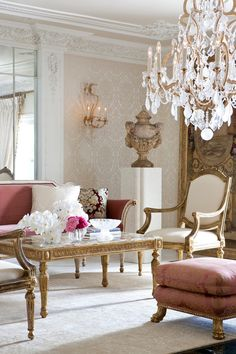 Sitting room at Maison de Ville: a Parisian pied-a-terre by Featuring our hand-crafted Montaigne Cocktai… Classic Interior, Luxury Interior, Interior And Exterior, Interior Designing, Interior Modern, Formal Living Rooms, Living Room Decor, Deco Baroque, Muebles Shabby Chic