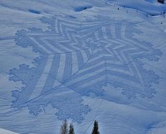 Simon Beck's Snow Art | Trendland: Fashion Blog & Trend Magazine