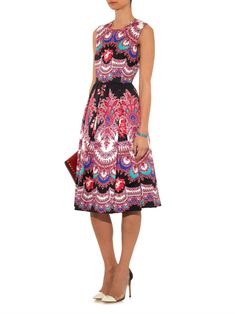 MSGM Floral paisley-print sleeveless dress