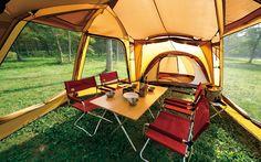 メッシュシェルター_018 Camping Car, Campsite, Outdoor Fashion, Life Is An Adventure, Happy Campers, Outdoor Furniture, Outdoor Decor, Glamping, Wilderness