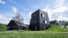 Completed in 2019 in Vught, The Netherlands. The Villa in the Dutch countryside near Vught gives a contemporary twist to the local farmstead typology. Traditionally, the Dutch 'hoeve' is an. Tiny House, Aluminium Cladding, Timber Structure, Rooftop Terrace, Entrance Gates, Ground Floor, Villas, Netherlands, Zaha Hadid