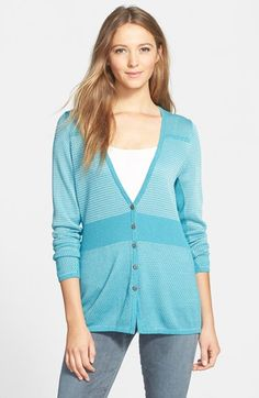 NIC+ZOE 'Dynamic Stripe' Cardigan available at #Nordstrom