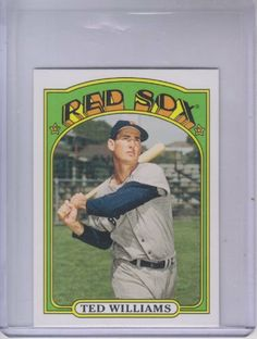 2013 Topps 1972 Topps Minis #TM50 Ted Williams by Topps. $3.00. 2013 Topps Co. trading card in near mint/mint condition, authenticated by Seller