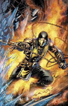 Mortal Kombat X - Scorpion by Ivan Reis *