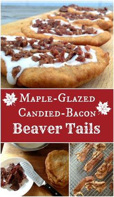 Maple Glazed Candied Bacon Beaver Tails Recipe – A Perfect Treat for the Long Weekend! Maple Glazed Candied Bacon Beaver Tails Recipe – A Perfect Treat for the Long Weekend! Canadian Dishes, Canadian Cuisine, Canadian Food, Canadian Recipes, English Recipes, French Recipes, Italian Recipes, Candied Bacon, Maple Bacon