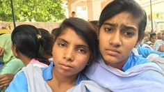 Thirteen protesting schoolgirls say the administration in Haryana state had failed to protect them.