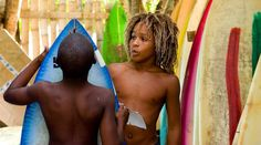 Young Jamaican Surfers