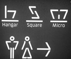 signage system modernist zigzagante