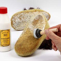 Gebreide, vervilte pantoffels   DIY handleiding
