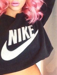 Pretty Girl Swag Dope Baddie Urban Streetwear Fashion Style Trend Nike Just Do It Jumper Hoodie