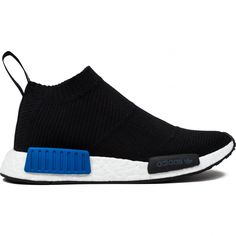 Adidas Nmd Cs1 Primeknit Shoes in Core Black/Lush Blue as seen on Justin Bieber