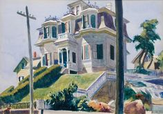 Edward Hopper (American, 1882-1967), Haskell's House 1924. Watercolor over graphite on paperboard, 34.3 x 49.5 cm. National Gallery of Art, Washington, D.C.