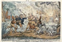 "Cannibal   Early 19th-century caricature showing settlers being attacked by cannibal ""Hottentots""."