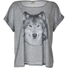 HAUTE HIPPIE Grey Heather Hungry Like A Wolf T-Shirt (430 BRL) ❤ liked on Polyvore featuring tops, t-shirts, shirts, blusas, jersey shirt, wide neck t shirts, tee-shirt, rayon t shirts and loose t shirt