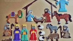Porozmawiajmy o wiośnie - zbiór materiałów edukacyjnych dla dzieci - Dzieciaki w domu Hama Beads Christmas, Christmas Nativity, Pixel Art, Xmas, Christmas Stuff, Sewing, Crochet, Buttons, Learning