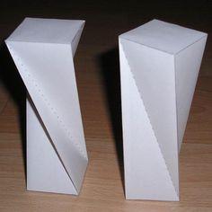 prisma rectangular torcido