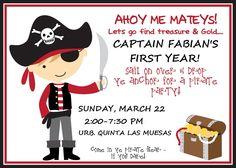 Invitations pirates