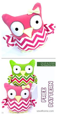 free printable stuffed animal patterns - Swoodson Says Long time readers know I have a big soft spot for sewing stuffed animals! While I love supporting pattern designers (and Homemade Stuffed Animals, Sewing Stuffed Animals, Stuffed Animal Patterns, Owl Stuffed Animal, Stuffed Owl, Owl Sewing Patterns, Free Printable Sewing Patterns, Pillow Patterns, Free Printables
