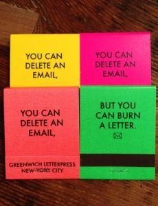 Greenwich Letterpress Matches