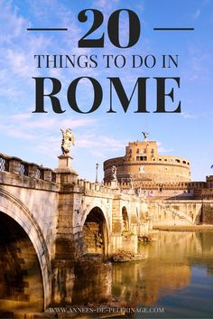 A list of 20 amazing things to do and see in Rome. Plan your perfect itinerary for Italy's capital. Click for more!