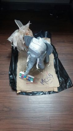 The San Diego MCRRs bring you this recycled elephant and palm tree. This is their submission for the Earth Day Office Project.