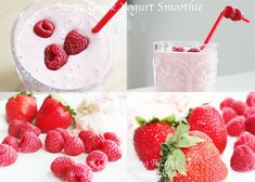 Clean Eating Dessert – Raspberry Greek Yogurt Smoothie | Clean Eating Diet Plan | Clean Eating Meal Plan | Clean Eating Recipes