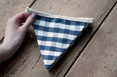Blue and Off-White Check Country Kitchen Bunting / Banner / Pennant / Garland Bunting Banner, Banners, Cream Country Kitchen, Shark Tank, Etsy Handmade, Small Businesses, Playroom, Beautiful Things, Off White