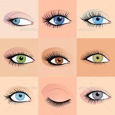 Set of Female Eyes