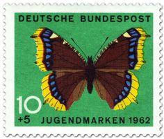 stamp / germany / 1962 / deutsche bundespost / butterfly