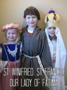 Over 150 MORE All Saints Day Costumes for Kids: and all the winners of Catholic Costume 2015 - Catholic All Year Catholic All Year, Catholic Books, Catholic Prayers, Saint Costume, Eve Costume, Liturgical Seasons, Cool Costumes, Costume Ideas, Dress Up Boxes