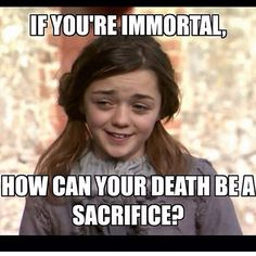 Atheist Arya Doesn't Have Time for Your Religion - Insane collection of GOT memes. Why would anyone need this many memes? Atheist Humor, Atheist Quotes, Religious Humor, Humanist Quotes, Atheist Religion, Secular Humanism, Agnostic Beliefs, Losing My Religion, Les Religions