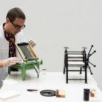 The Smallest Printing Company: Miniature Printing Press and screen printing press for a Mobile Printing Studio