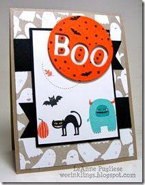 LeAnne Pugliese: Wee Inklings Boo Motley Monsters Halloween Stampin UP - 8/18/14