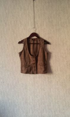 Women's Vest Brown Waistcoat vintage Classic by TinutesCreations, $17.00
