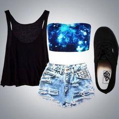 tank top bandeau perfect shorts underwear galaxy print crop tops shirt galaxy top black top sports bra black