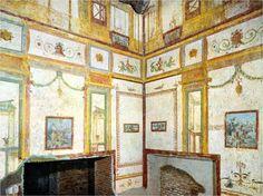 Pinturas de la Domus Áurea de Nerón. Estilo arquitectónico pompeyano.