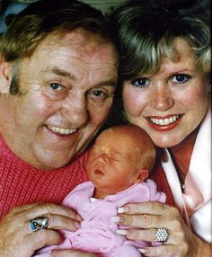 Happier times: Les with his wife Tracy and newborn child Charlotte in but tragically he died a year later aged 62 Les Dawson, Classic Comedies, Fat Man, Jim Morrison, Male Face, New Series, Happy Day, Comedians, The Twenties